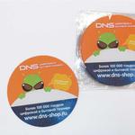 Коврик для мышки с логотипом для компании DNS